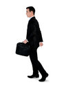 Business man walk side isolated Stock Photo