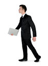 Business man walk side isolated Royalty Free Stock Photography