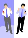 Business man with walkie talkie Royalty Free Stock Image