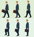 Business man walking cycle for a Stock Photo