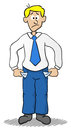 Business man who has empty pockets vector illustration of a cartoon Royalty Free Stock Photo