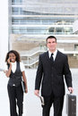 Business Man With Woman Co-worker Royalty Free Stock Photography