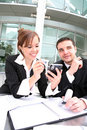Business Man and Woman Team Royalty Free Stock Photo