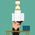 Business man work hard and overload under pressure in urgent deadline. Royalty Free Stock Photo