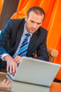 Business man working Royalty Free Stock Images