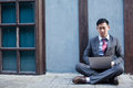 Business Man Working Outdoor - Work Anywhere Concept Royalty Free Stock Photo