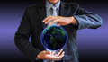 Business man world illustrate a general background Stock Photography