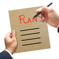 Business man writing blank plan list Royalty Free Stock Photo