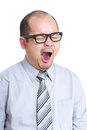 Business man yawn Royalty Free Stock Photo