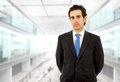 Business man young portrait at the office Royalty Free Stock Photography