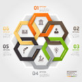 Business management circle origami style options banner vector illustration can be used for workflow layout diagram number options Stock Images