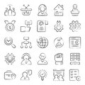 Business Management Doodle Icons Pack Royalty Free Stock Photo
