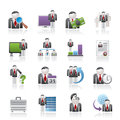 Business, management and hierarchy icons Stock Photography