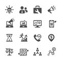 Business and management icon set vector eps Stock Images