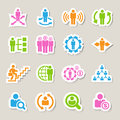 Business and Management Icons set Stock Image