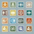 Business and management icons set illustration eps Royalty Free Stock Images