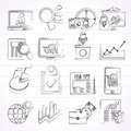 Business and Market analysis icons Royalty Free Stock Photo