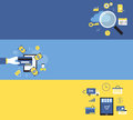 Business marketing and online shopping banner background concept