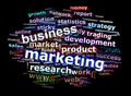 Business Marketing Word Cloud Advertising Concept Royalty Free Stock Photos
