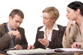 Business meeting 2  - 2 woman, 1 man Royalty Free Stock Photo