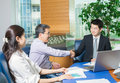 Business meeting Asian nationality people Royalty Free Stock Photo