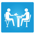 Business meeting consultant symbol in blue button Stock Photography