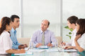 Business meeting copy spaced image of a team at the with the head of the company Royalty Free Stock Photography