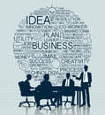 Business meeting with icon background Royalty Free Stock Photo
