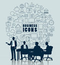 Business meeting with icon for Business concept. Royalty Free Stock Photo