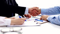 Business meeting at office. handshake in office Royalty Free Stock Photo