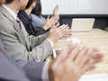 Business meeting people applauding during Royalty Free Stock Image