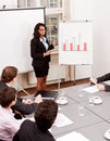Business meeting presentation flipchart Royalty Free Stock Photo