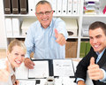 Business meetings - People giving you thumbs up Stock Photos