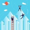 Business Men Climb To Success ...
