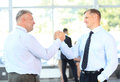 Business men closing deal. handshake Royalty Free Stock Photos