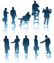 Business Men Silhouettes Royalty Free Stock Photo