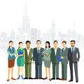 Business men and women in the city Royalty Free Stock Photo