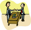Business mens with a briefcase with money vector Stock Photo