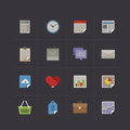 Business metro retro icon set vector illustration Royalty Free Stock Photos