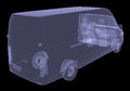 Business minibus isolated render of an x ray Royalty Free Stock Images