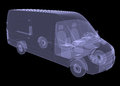 Business minibus isolated render of an x ray Royalty Free Stock Photos