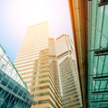 Business modern center in hongkong Royalty Free Stock Images