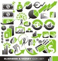 Business and money icon set Stock Photos