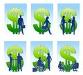 Business Money Silhouettes Stock Photo