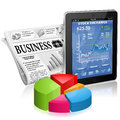 Business and News Concept Stock Photography