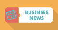 Business news concept in flat design with long shadows Royalty Free Stock Photo