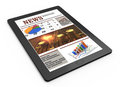 Business news on tablet pc Royalty Free Stock Images