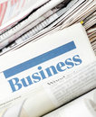 The business newspaper Stock Photography