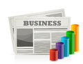 Business newspaper and graph illustration design Stock Photo