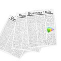 Business newspaper vector illustration of with bargraph Royalty Free Stock Photography
